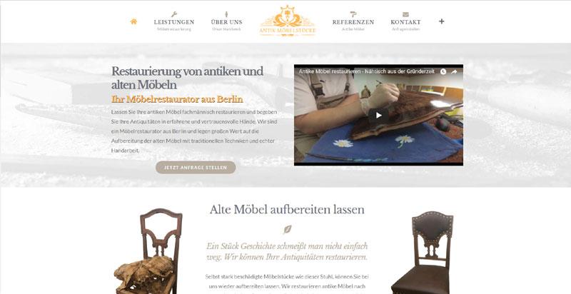 Webseite Antike Möbelstücke