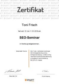 SEO Zertifikat