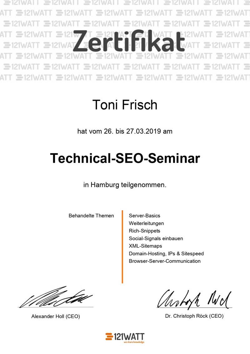 Technical SEO Zertifikat